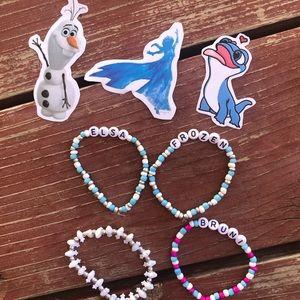 Frozen bracelet & sticker set